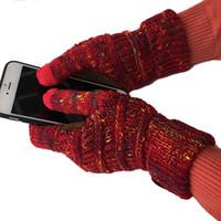 gants acryliques achat en gros de-2018 Marque De Haute Qualité Tricot Gants Homme Femme Mitaines Chaudes Pour Écrans Tactiles Et Acrylique Gants À Tricoter À La Main