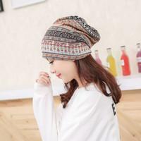 красивые женские шляпы оптовых-Fashion Women Multi Purpose Warm Autumn Winter Hats Wool Headwear Knitting Hat Beautiful Caps Popular