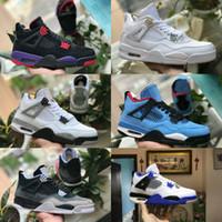info for 51ff5 87998 nike Air jordan retro 4 CACTUS JACK Travis Scotts x 4s Denim LS Jeans  Houston Oiler Blanc Ciment Raptors KAWS IV Chaussures de basket-ball pour  hommes Pure ...