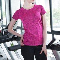 chemises professionnelles de fitness achat en gros de-Femmes À Séchage Rapide Respirant Tops De Yoga Professionnels À Manches Courtes Femmes Dames Exercices Gym Running T-Shirts Fitness Sport Chemises