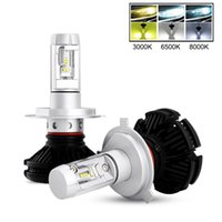 Wholesale Led H11 55w - COOLEEON X3 LED Car Headlamp 55W 9005 9006 H1 H4 H7 H8 H11 Auto Headlight Bulbs 6500K White with Philips ZES Chips