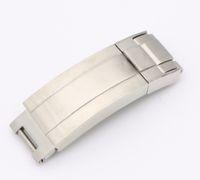 флип-кисть оптовых-CARLYWET 9мм х 9мм Новый ремешок для часов с пряжкой Glip Flip Lock Застежка для установки серебристая матовая 316L из цельного металла из нержавеющей стали