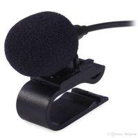 ingrosso mini lettore dvd per auto-Professionals 3.5mm Stereo Jack Plug Mono Car Microfono esterno Mini Wired Mic DVD Radio Player stereo HeadUnit Cable 3m + B