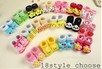Wholesale infant socks wholesale - Baby Animal 3D Socks Newborn Baby Boys Girls Outdoor Shoes Infant Girls Anti-slip Walking shoes Children Warm Sock kids Gift 18colors