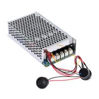 velocidad del motor pwm al por mayor-Envío gratuito 10-30 V 100 A 3000 W programable DC Motor Regulador de velocidad ajustable Regulador PWM Control Reversible motor eléctrico vibrador