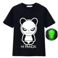schädelkopfhörer großhandel-Mode Kinder Kleidung Fluoreszenz Shirts für Jungen Panda Spinne Bat Schädel Kopfhörer Gedruckt Baumwolle Tops T-shirt fit Alter 2-10 Jahre Alte Kinder