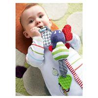 Wholesale Infant Hanging Toys - Infant Elephant Hanging Soft Dolls Educational Plush Toys Music Teether Bed Stroller Bell Rattle Toys DDA37