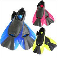 zapatos de ranas al por mayor-Aletas de natación Adulto Snorkel Pie Flipper Niños Buceo Aleta Principiante Equipo de natación Zapatos cortos portátiles de ranas Nuevo 28hb dd
