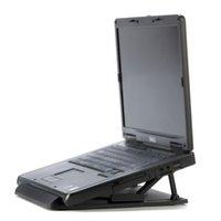 suporte do notebook venda por atacado-GTFS-Universal Portátil Ergonomic Ajustável Swival Cooling Pad para Suporte Titular PC Notebook Laptop