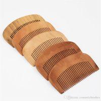 Wholesale mahogany hair online - Mybasy Chinese style Mahogany Health care peach comb anti static portable Women s daily use healthy comb