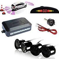 ultrasonik park sensörleri toptan satış-Yüksek Hassasiyetli Buzzer Güvenlik Uyarısı Araç Ters Back Up Radar Sistemi 4 Ultrasonik Park Sensörleri ile Evrensel Oto için LED Ekran