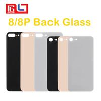 couverture iphone 4s blanc pomme achat en gros de-Couverture en verre pour Apple IPhone 8 8 Plus Retour Couvercle de la Batterie Porte Arrière Logement iPhone8 Pièces de Rechange Pour iPhone 8 Retour Verre