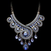 ingrosso collana di strati di strato-Maxi Necklace Luxury Collar Multi Layer Vintage africano perline Collane Pendenti Gipsy Style donna Collana Statement NP041