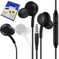 mikrofon kontrol tel toptan satış-S8 Kulaklıkları 3,5 mm Kablolu Stereo Kulaklık Kulak Kulaklık Kulaklık Mikrofon Ses Kontrol samsung s7 s8 için Kulaklık artı not 4 5