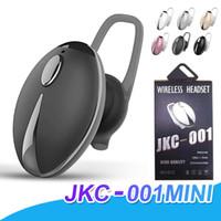 Wholesale waterproof bluetooth headphones mic resale online - Bluetooth Headphones JKC001 Mini headphones Wireless Earphone BT In Ear Sports Waterproof Earbuds With Mic Ear Hooks With Retail Package