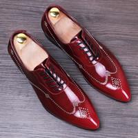 ingrosso gli abiti da sposa gli uomini piace-nuovi rivetti fatti a mano gli oxford vendono come le torte calde a punta scarpe da uomo in pelle scarpe da sposa scarpe da sera eleganti stringate da uomo