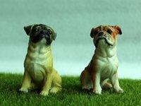 animal pei venda por atacado-Animal 12 pcs Resina Mini Estatueta Para Casa Jardim Miniaturas de Fadas Ornamento Do Jardim Decorações Chihuahua Shar Pei Dálmata Brinquedos Presentes Do Cão