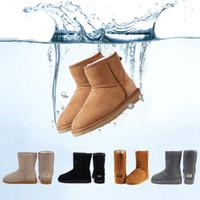 apliques de cetim venda por atacado-UGG BOOTS Botas de neve do inverno Austrália Clássico boa moda WGG botas altas de couro real Bailey bowknot mulheres bailey bow Knee Boots mens sapato