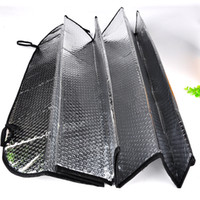 Wholesale front windshield sun shade visor - 2018 Universal Reflective Car Aluminum foil Windscreen Sunshade Front Window Sun Shade Windshield Visor Cover UV Protect