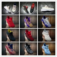 Wholesale Games Crazy - 2018 Original Crazy Explosive Low PK Boost AW Wiggins LasVegas Black White Basketball Shoes for Mens Andrew Game Sports Sneakers Size 40-46