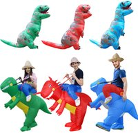Wholesale military woman costume online - Halloween costume for women inflatable dinosaur costumes for adults men T rex fancy dress kids adult Fan operated Y1891202