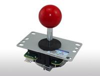 jeu de mode achat en gros de-Cdragon Arcade joystick haut de la page boule rouge 8 Way Joystick Fighting Stick Pièces pour Game Arcade