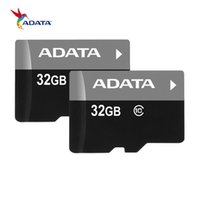 Wholesale usa packaging - 100% Real Full 4GB 32GB ADATA TF Memory Card with Free SD Adapter Blister Retail Package Class 10 C10 Fast Speed Dropshiping to USA