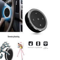lenkrad montiert bluetooth großhandel-Auto Wireless Bluetooth 3.0 Media Audio Taste Lenkradhalterung Musik Spielen Fernbedienung Für Auto Motorrad