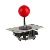 ingrosso parti di giochi arcade-Freeshipping Arcade joystick DIY Joystick Red Ball 4/8 Way Joystick Fighting Stick Parts per Game Arcade Costruzione molto robusta