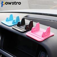 rutschmatten für handys großhandel-Powstro Soft Silikon Auto Halter Universal Handy Ständer GPS Antirutschmatte Desktop Stand Halterung für Smartphone