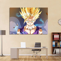 Wholesale One Piece Combination - 1 piece canvas art dragon ball Z saiyan canvas painting posters and prints wall pictures for living room free shipping XA1652C