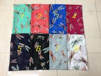 señora de la llegada bufandas al por mayor-Abrigo de la bufanda de la impresión de la libélula de las nuevas mujeres de la llegada 2016 Señora Shawl Hijab Long Size180 * 90cm Bufanda al por mayor 10pcs / lot, envío libre