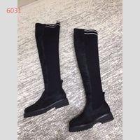 1df3e6cf27b 2018 Autumn Winter New Over the Knee Thigh-High Boots Women Fashion Sock  Stretch Boots Flat Sheepskin Boots