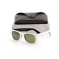 lindos óculos de sol venda por atacado-Beautiful Classic Plank Óculos De Sol mens de Alta Qualidade lente de vidro Verde Lens preto branco Óculos De Sol New womens óculos de Sol com caixas e caixas