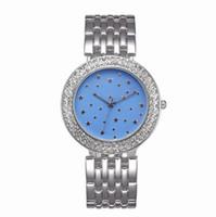 reloj de aleación de diamantes al por mayor-Relojes michael Reloj de cuarzo Reloj de acero con estilo completo estilo mujer mujer estrellas del cielo reloj de aleación de diamantes de cristal para mujer reloj A543
