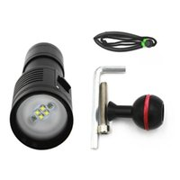 Wholesale pool torches - Waterproof Underwater shooting Photography Fill Light Diving Light LED  Scuba Torch Bright Video Diving Tool
