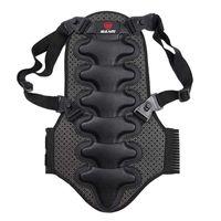 chalecos de seguridad negros al por mayor-Esquí extraíble Chaleco deportivo de protección Esquí Armadura Protector de espalda Protector de columna vertebral Armadura más nuevo Negro Deporte de seguridad