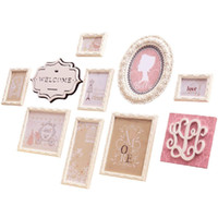 ingrosso combinazioni di colori della pittura della stanza-Combinazione decorativa in legno massello, decorazioni da parete per soggiorno, cornice decorativa per foto (colore: rosa)