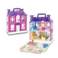 Wholesale toys girls house for sale - Group buy DIY Toys Doll House with Music LED Light Accessories Miniature Furniture Musical Dollhouse Model Toy For Girls Gift