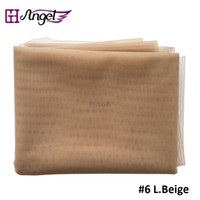 Wholesale materials net - Angels Swiss Lace Net For Wig Making And Wig Caps Lace Wigs Material Lace Closure Accessories 7 Colors Available Beige