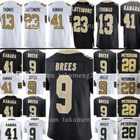 Wholesale top quality jerseys - top quality New Orleans 9 Drew Brees 41 Alvin Kamara Saints Jersey 28 Adrian Peterson 23 Marshon Lattimore 13 Michael Thomas Jersey mens