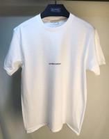 shorts de foot everton achat en gros de-Homme FEMME T-Shirts Simple Lettre Imprimé Saint T Shirt Paris / SLP Manches Courtes Hommes Lauren Tags Street Style Tops Homme Tee Shirt