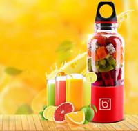 Wholesale mixer juicer - In Stock!! 2018 NEW Portable Juicer Cup USB Rechargeable Electric Automatic Bingo Vegetables Fruit Juice Maker Cup Blender Mixer Bottle