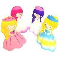 cordão kawaii venda por atacado-14 CM Jumbo Elástico Macio PU Mole Lento Rising Anti-stress Kawaii Squishies Menina Do Casamento Squeeze Crianças Brinquedos Charme Corda Cinta