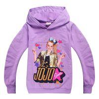 jungen patchwork hoodie groihandel-JoJo Paillette Baumwollhoodies Pullover für Kinder Jungen und Mädchen Mode Frühling und Herbst Kleidung 6 Farben