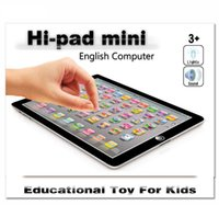 Wholesale computer pads tablets - newest Learning Toy game Tablet pad chinese English Computer Laptop Y Pad Kids Game Music Education Christmas Electronic Notebook