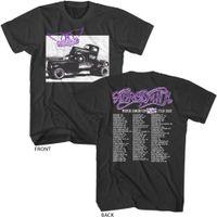 Wholesale anti music - Aerosmith North American Pump Tour 1990 Dates Adult T Shirt Rock Music