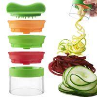 cortador de vegetais multifunções venda por atacado-3 em 1 Multifunction Vegetable Silicer 3 Blade Spiralizer Peeler Fruit Curl Slicer Slicer Slicer