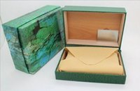 Wholesale folded paper cards - Factory Supplier Luxury Green With Original Box Wooden Watch Box Papers Card Wallet Boxes&Cases Wristwatch Box