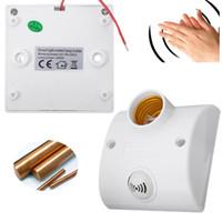 ingrosso supporto e11-Jiguoor E27 Montaggio a parete Voce / Suono Luce Sensore di controllo Portalampada Ritardo interruttore 100-250V